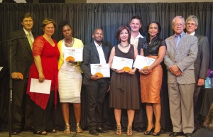 Receiving an Unashamedly Ethical Award for Business: recognizing application of Values, Ethics & Clean Living